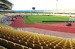 Royal Bafokeng Stadium Rustenburg -orgonite gifted in drizzle rain