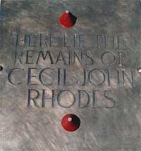 orgone energy healing on Cecil Rhodes' grave